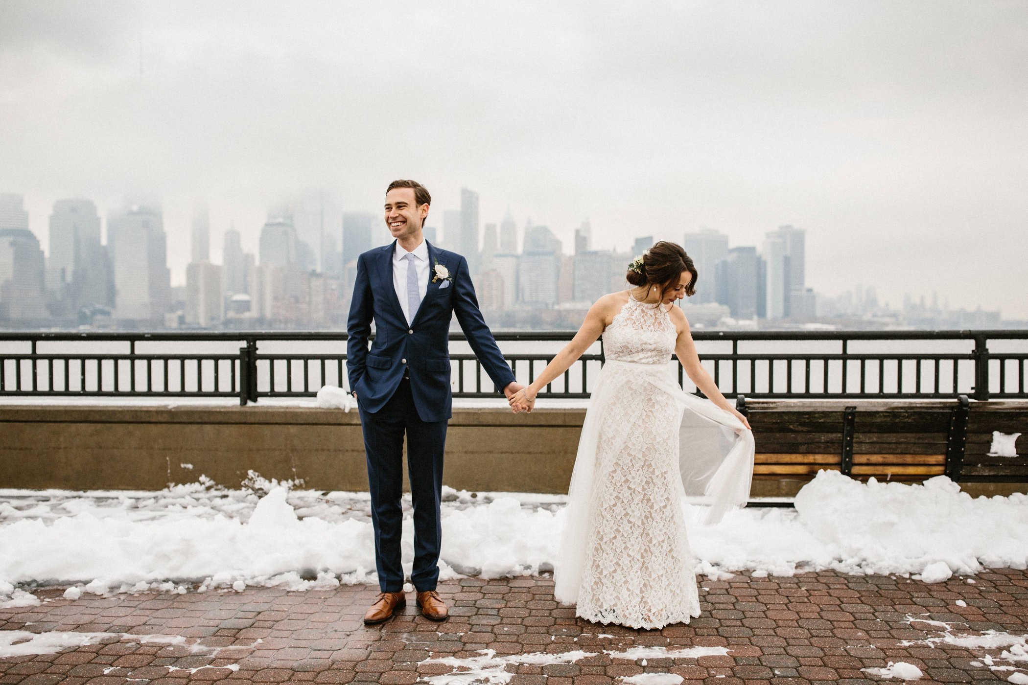 Kate Dustin Liberty State Park Wedding